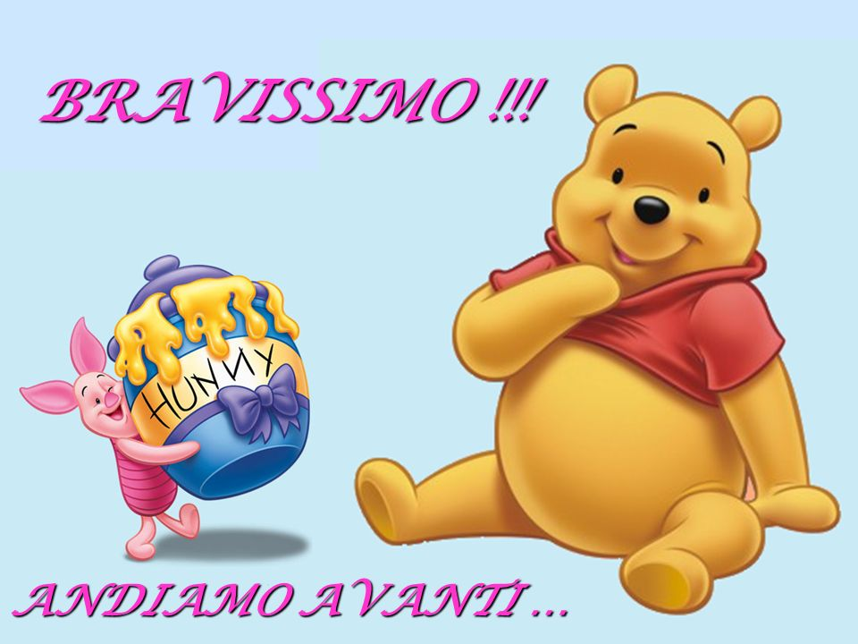 BRAVISSIMO !!! ANDIAMO AVANTI …