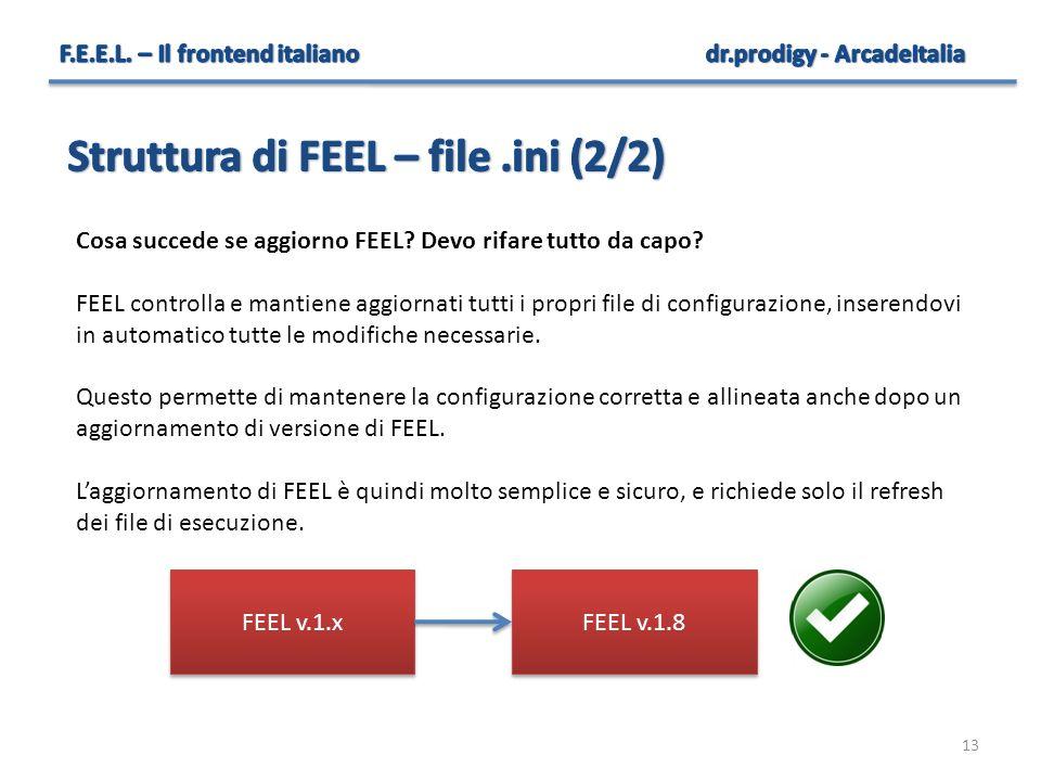Struttura di FEEL – file .ini (2/2)