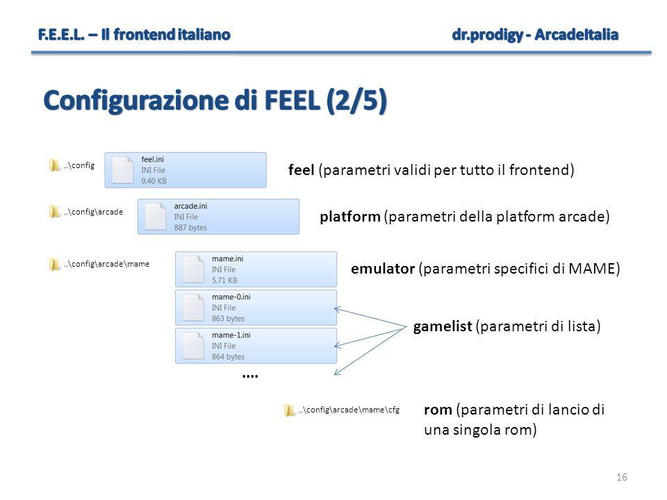 Configurazione di FEEL (2/5)
