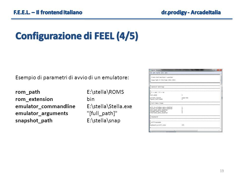 Configurazione di FEEL (4/5)