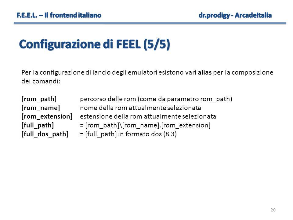 Configurazione di FEEL (5/5)
