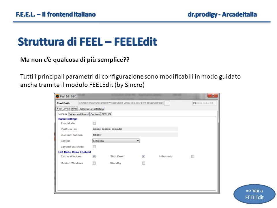 Struttura di FEEL – FEELEdit