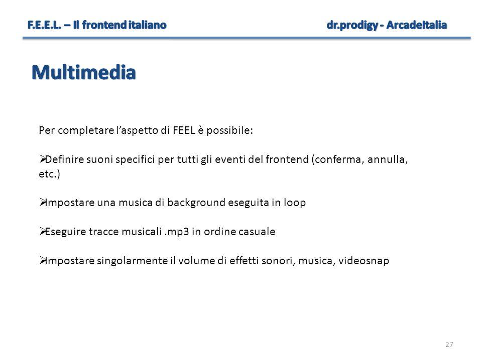 Multimedia F.E.E.L. – Il frontend italiano dr.prodigy - ArcadeItalia