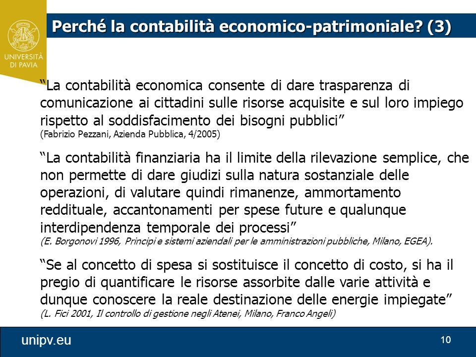 Perché la contabilità economico-patrimoniale (3)