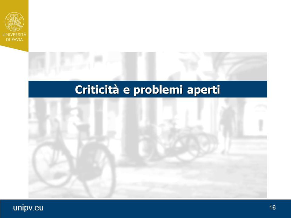 Criticità e problemi aperti