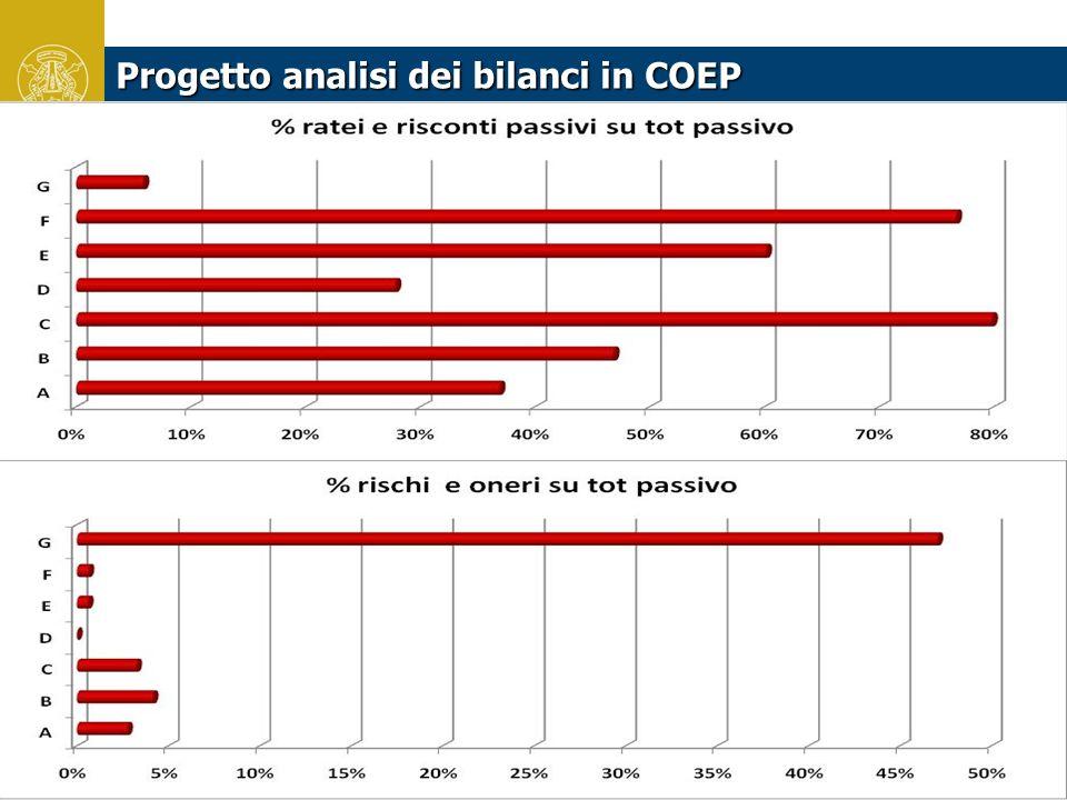 Progetto analisi dei bilanci in COEP