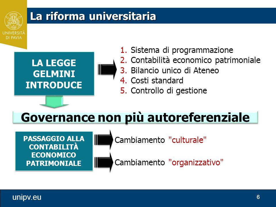 Governance non più autoreferenziale