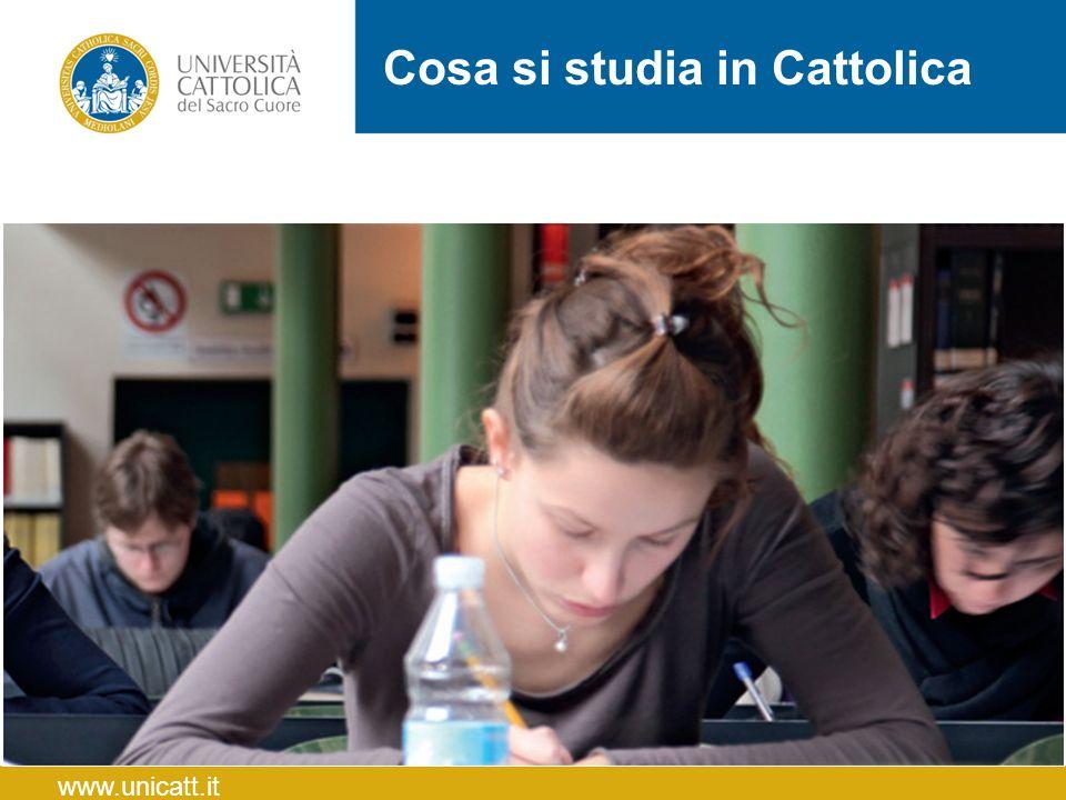 Cosa si studia in Cattolica