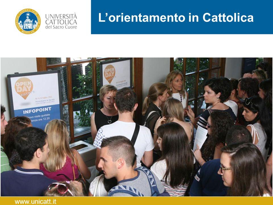L'orientamento in Cattolica