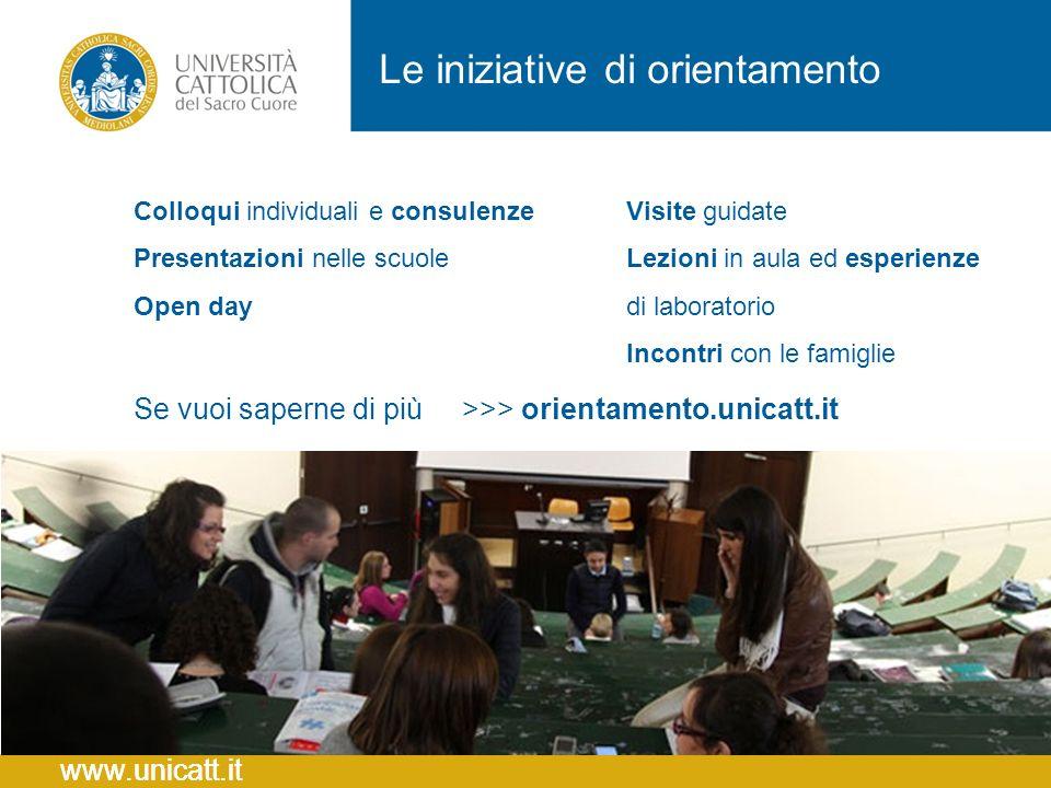 Le iniziative di orientamento