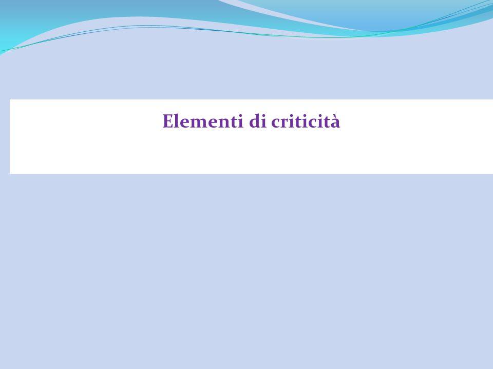 Elementi di criticità
