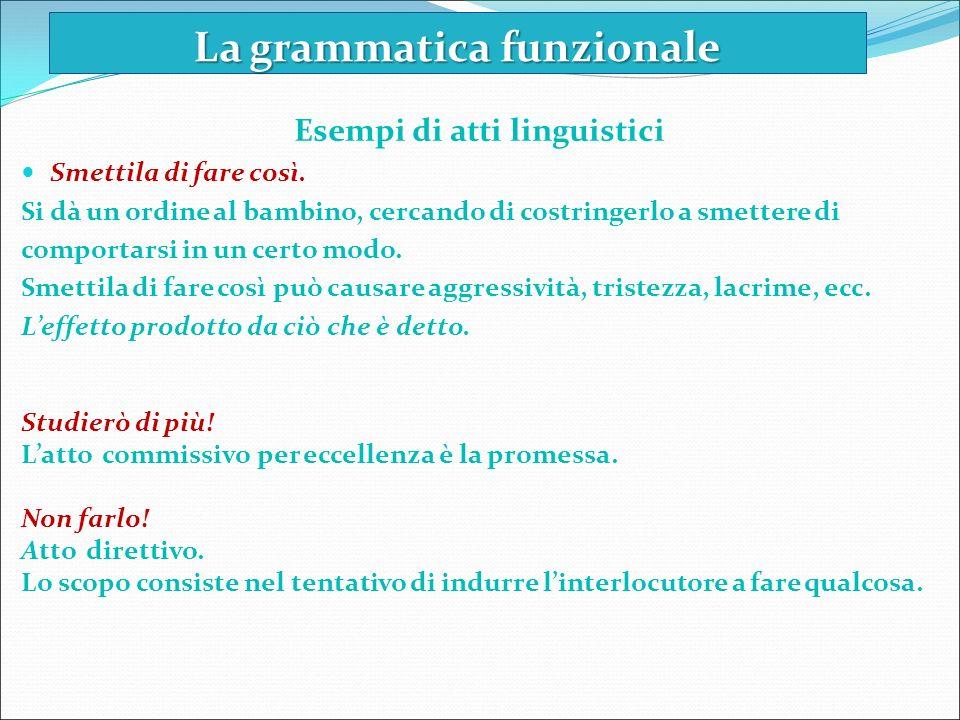 La grammatica funzionale