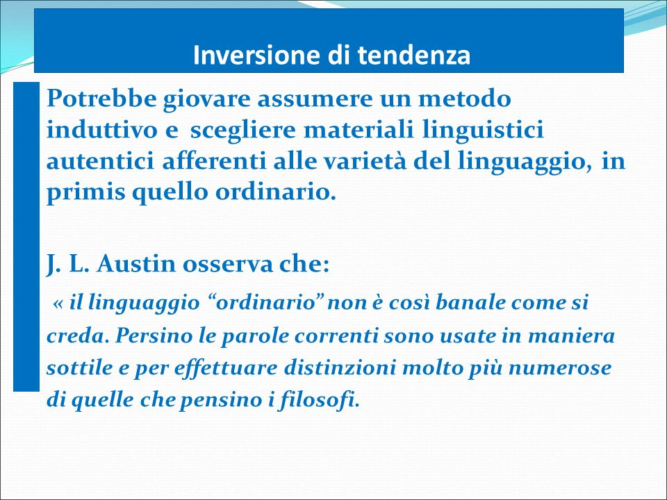 Inversione di tendenza