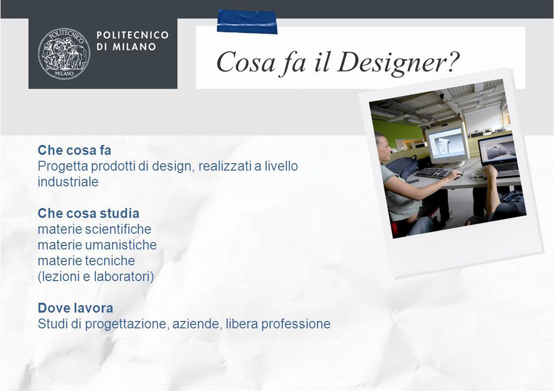 Cosa fa il Designer Che cosa fa