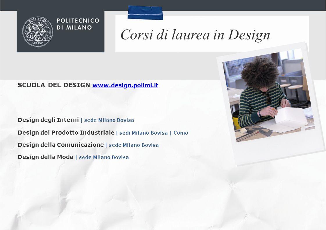 Benvenuti al politecnico di milano ppt video online for Laurea in design