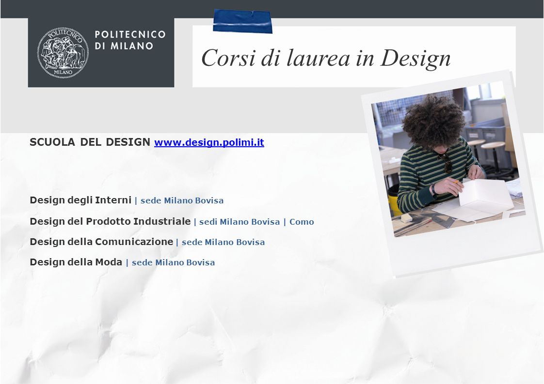 Corsi di laurea in Design
