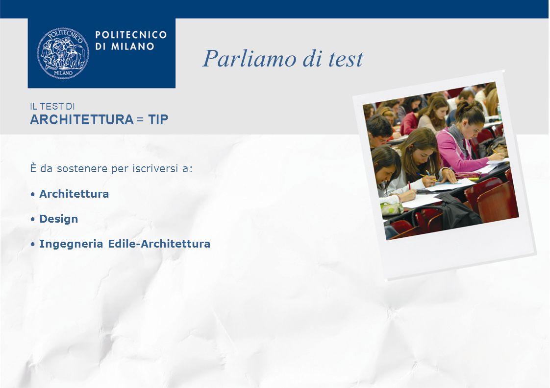 Benvenuti al politecnico di milano ppt video online for Test di architettura