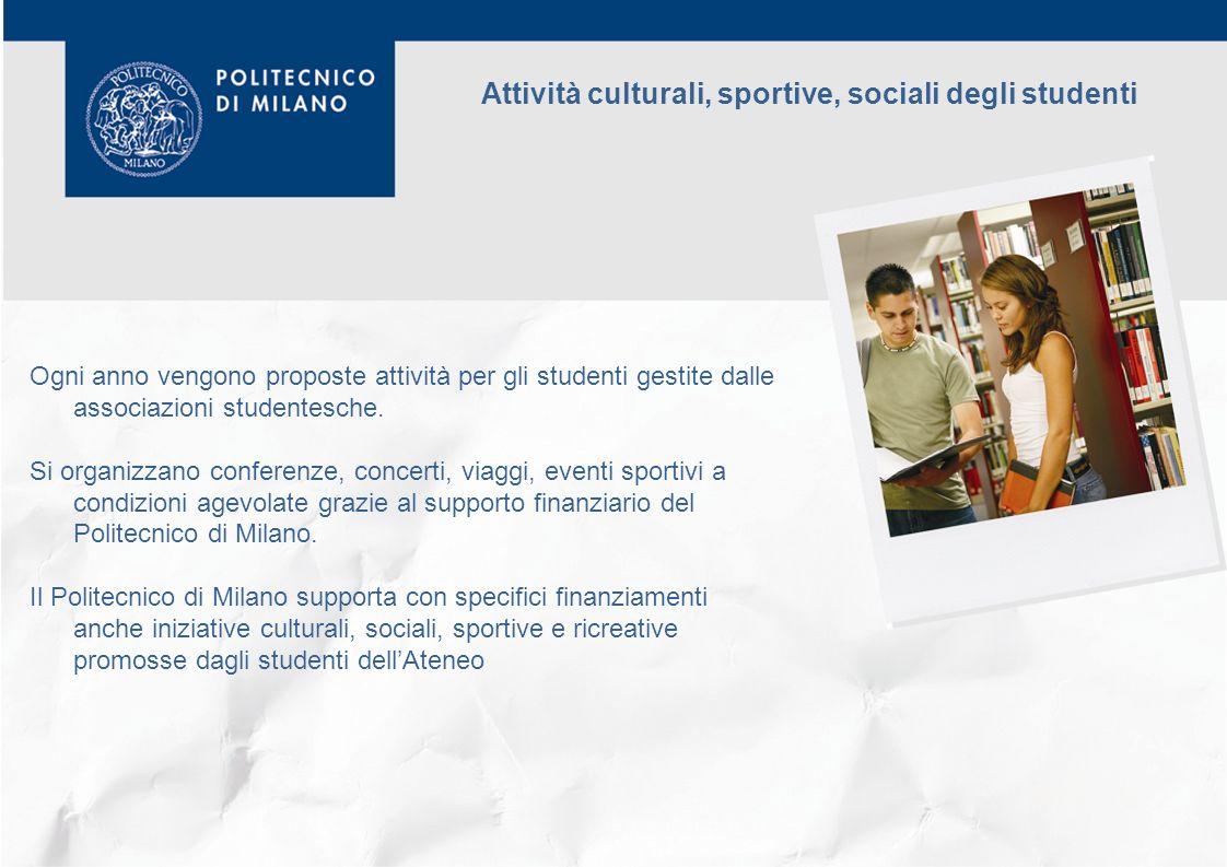 Attività culturali, sportive, sociali degli studenti