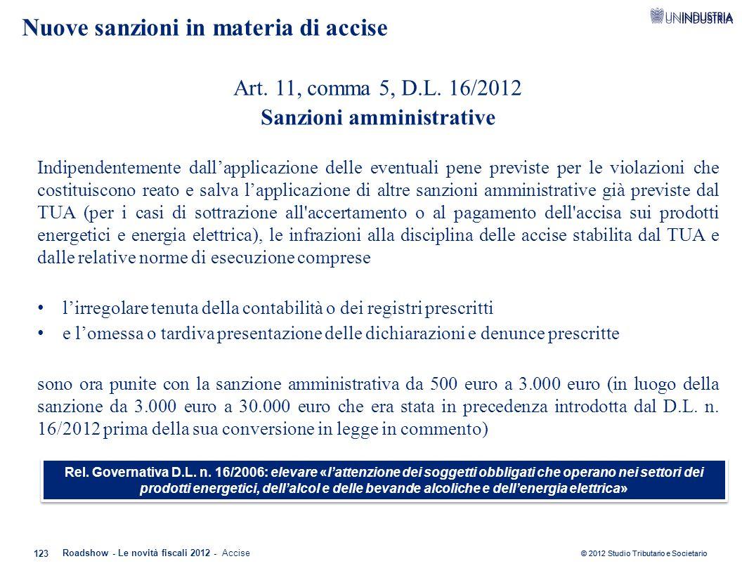 Nuove sanzioni in materia di accise