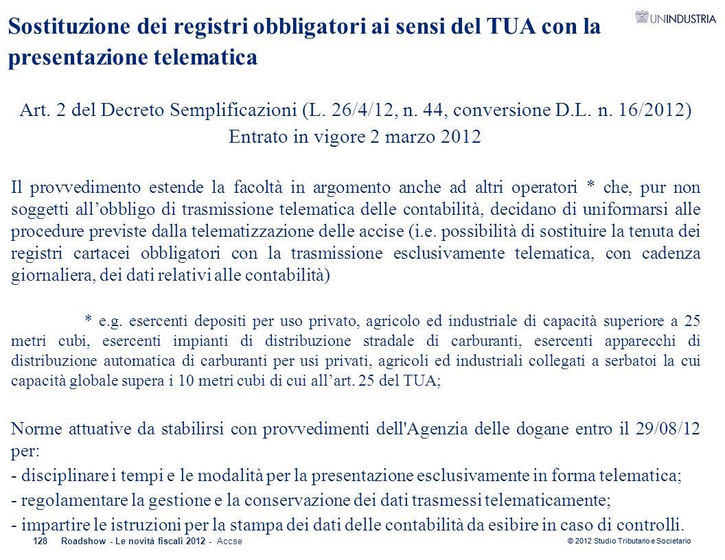 Entrato in vigore 2 marzo 2012