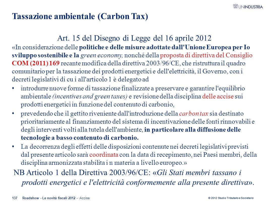 Tassazione ambientale (Carbon Tax)