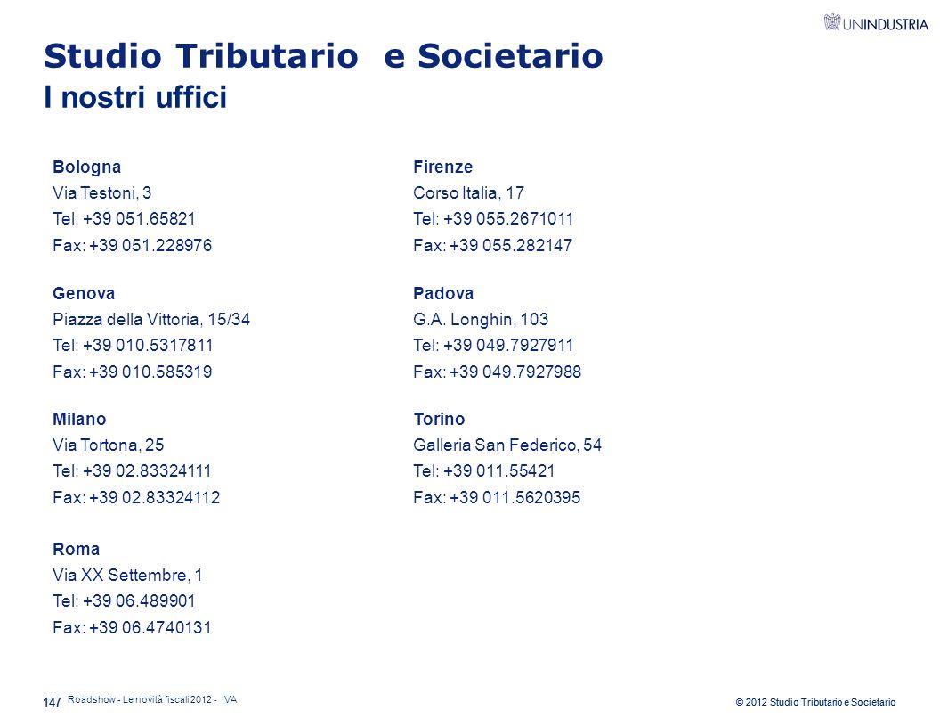 Studio Tributario e Societario I nostri uffici