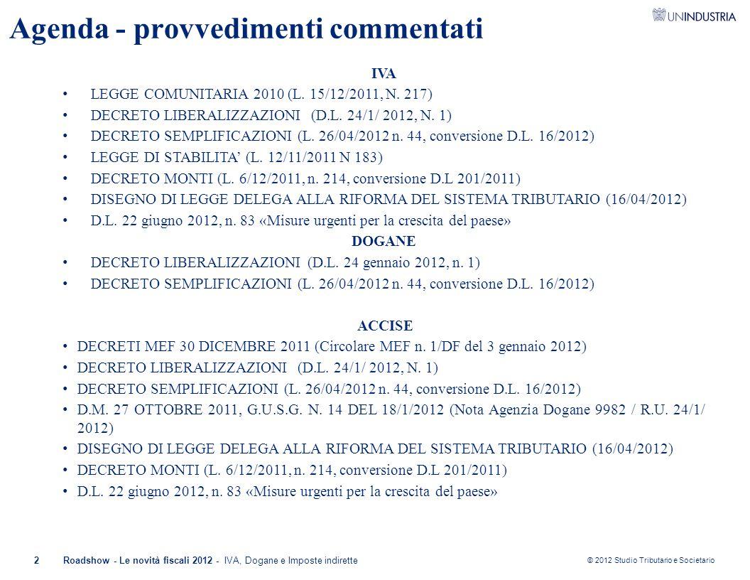 Agenda - provvedimenti commentati