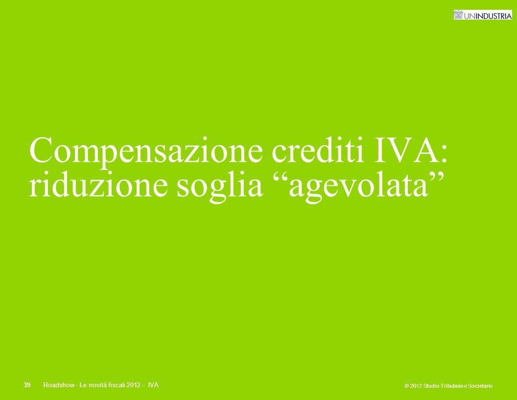 Compensazione crediti IVA: riduzione soglia agevolata