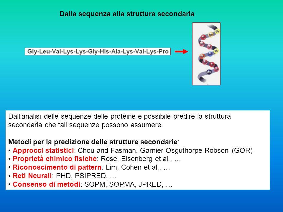 Dalla sequenza alla struttura secondaria