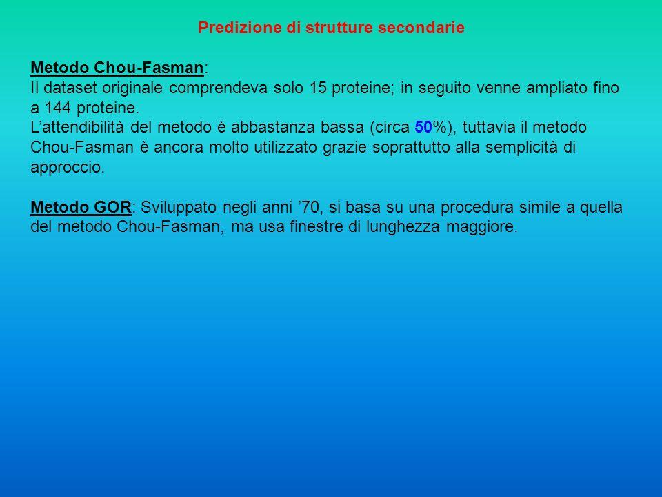 Predizione di strutture secondarie