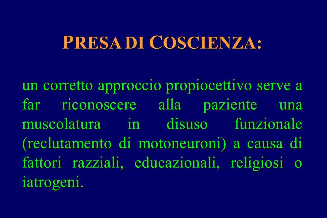 PRESA DI COSCIENZA: