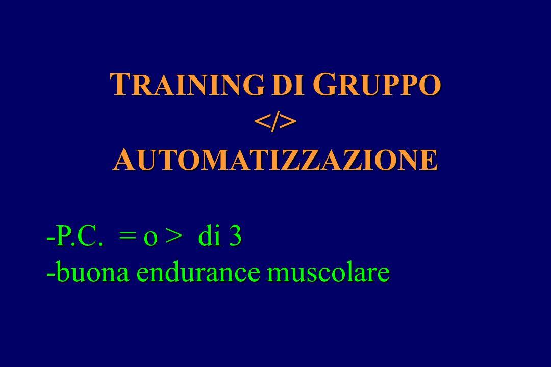 TRAINING DI GRUPPO AUTOMATIZZAZIONE