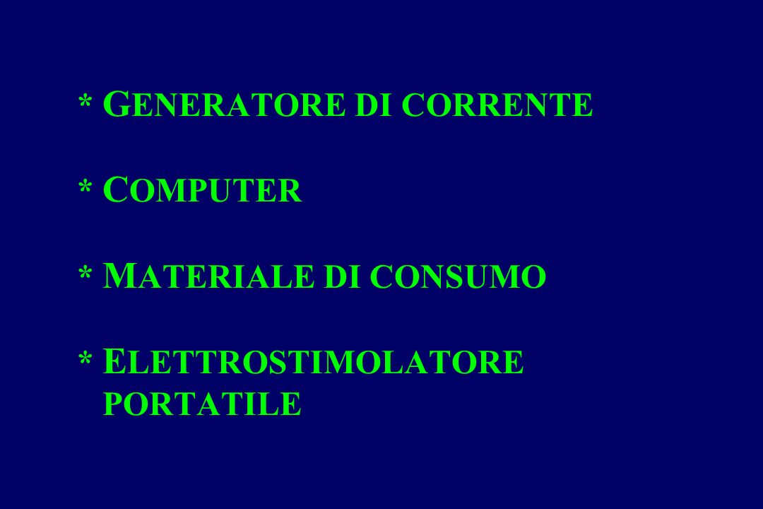 GENERATORE DI CORRENTE. COMPUTER. MATERIALE DI CONSUMO