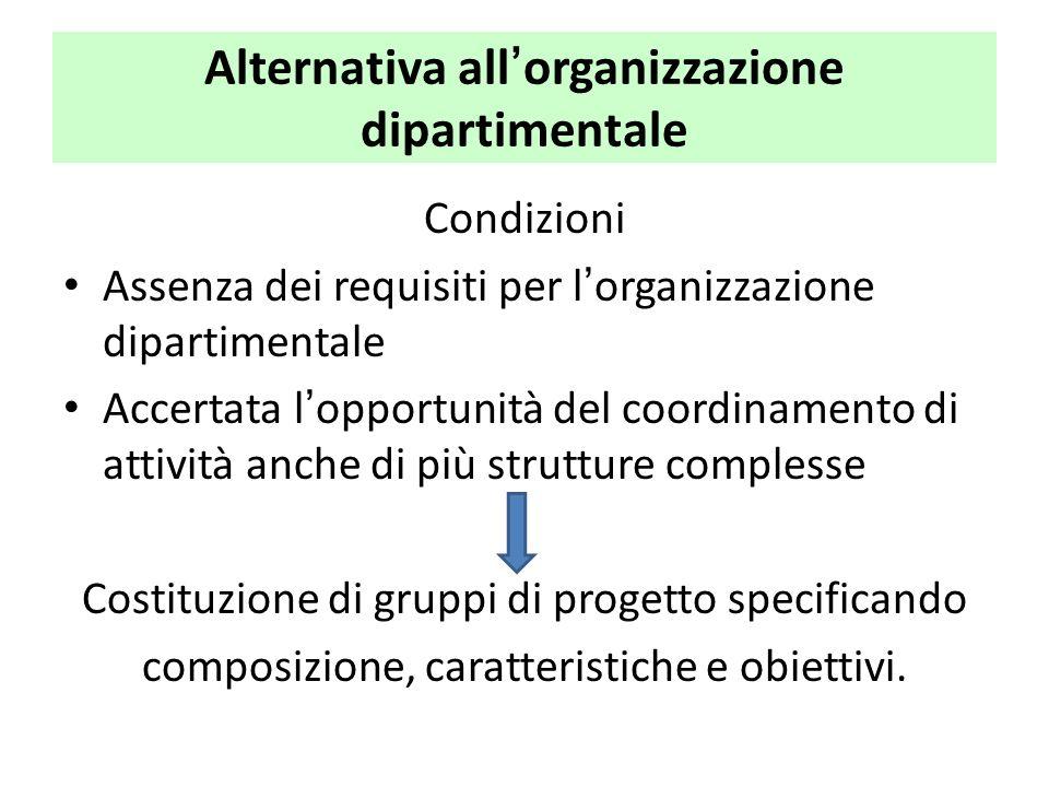 Alternativa all'organizzazione dipartimentale