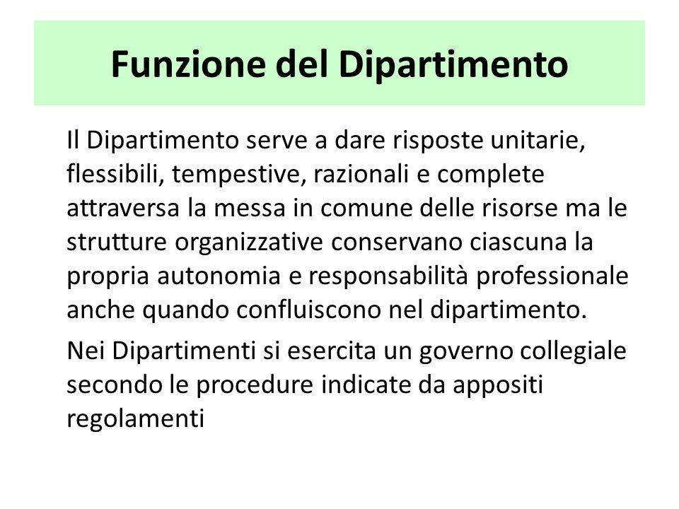 Funzione del Dipartimento