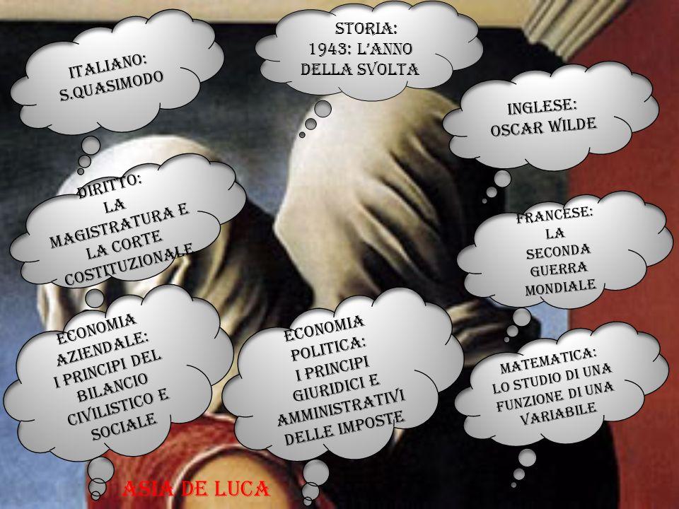 Asia de luca Storia: 1943: l'anno della svolta Italiano: s.quasimodo