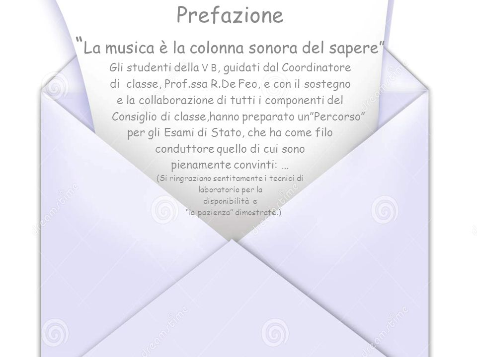 La musica è la colonna sonora del sapere