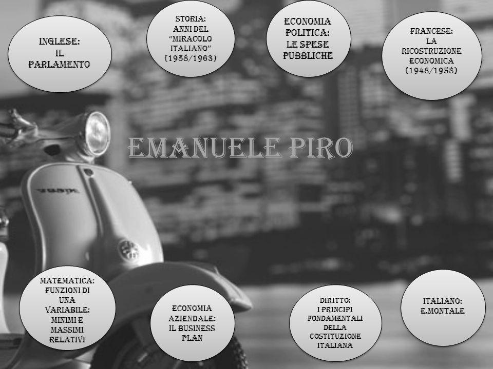 Emanuele piro Economia politica: Le spese pubbliche Inglese: