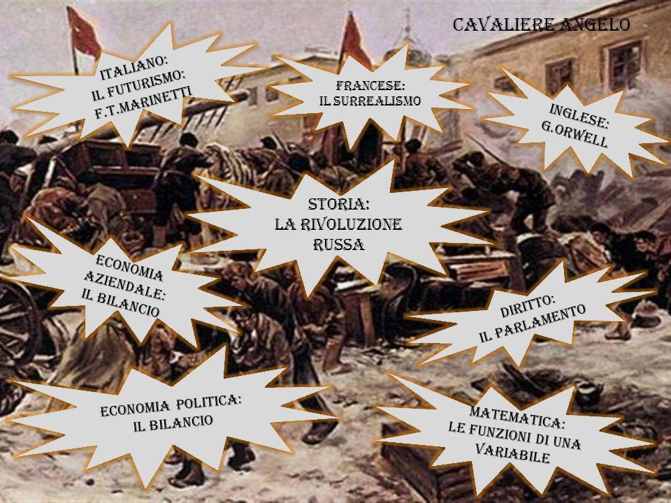 Cavaliere Angelo STORIA: La Rivoluzione russa ITALIANO: