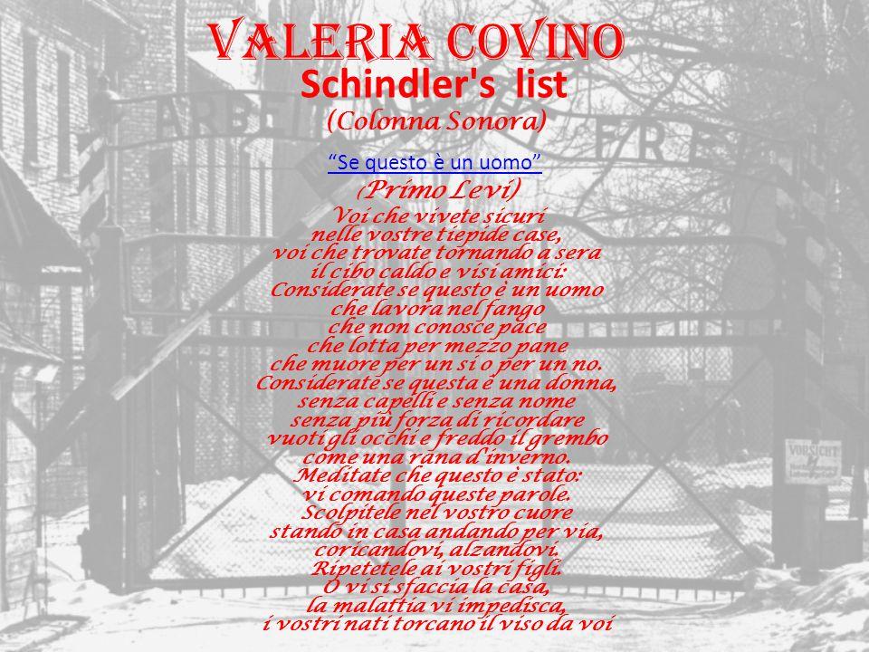 Valeria Covino Schindler s list (Colonna Sonora) Se questo è un uomo