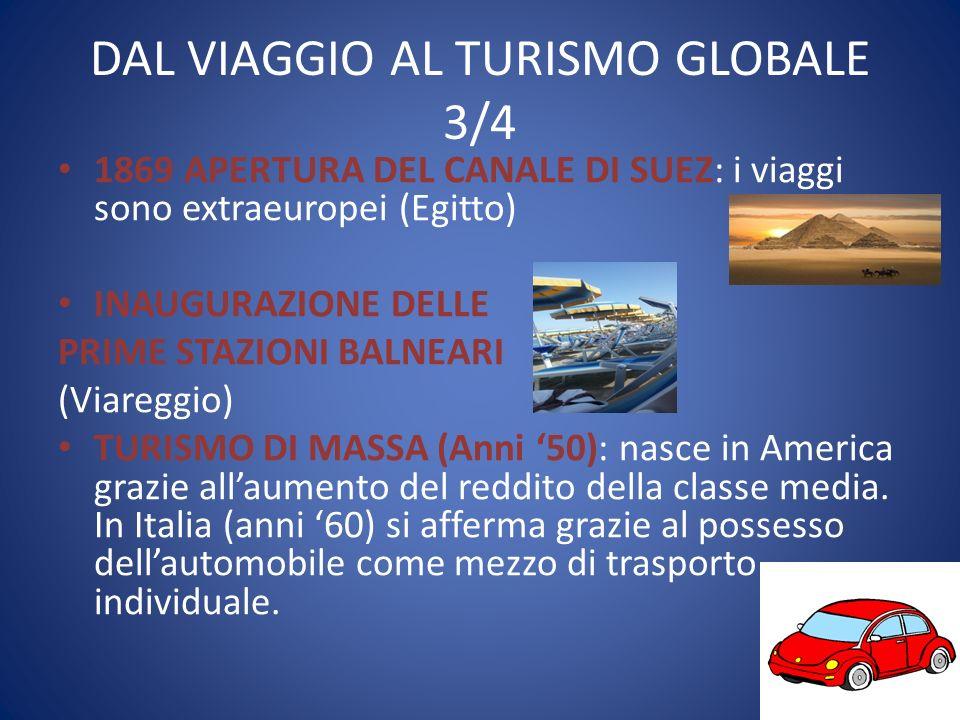 DAL VIAGGIO AL TURISMO GLOBALE 3/4