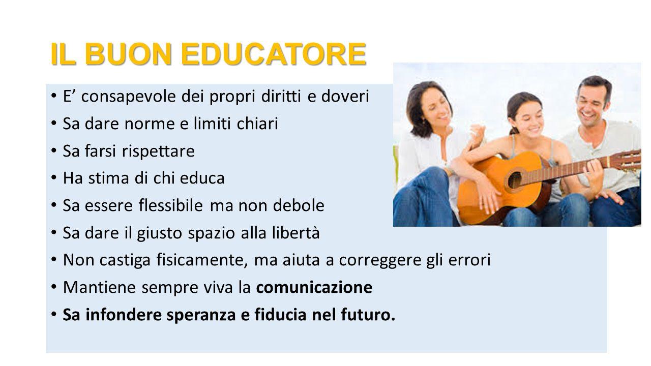 IL BUON EDUCATORE E' consapevole dei propri diritti e doveri