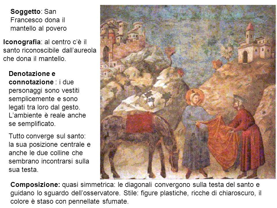 Soggetto: San Francesco dona il mantello al povero