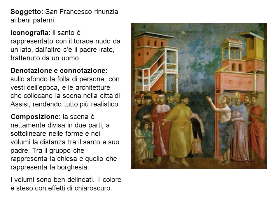 Soggetto: San Francesco rinunzia ai beni paterni
