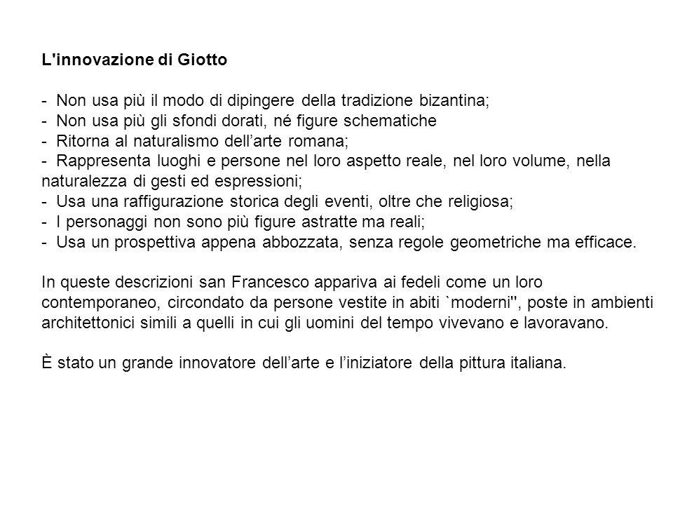 L innovazione di Giotto