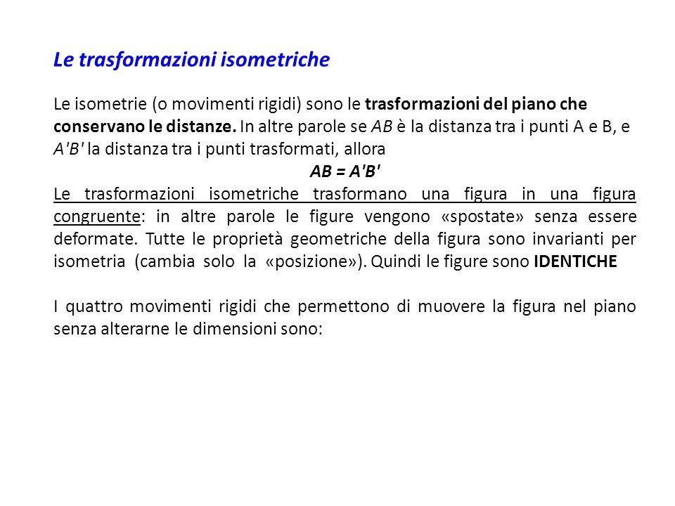Le trasformazioni isometriche