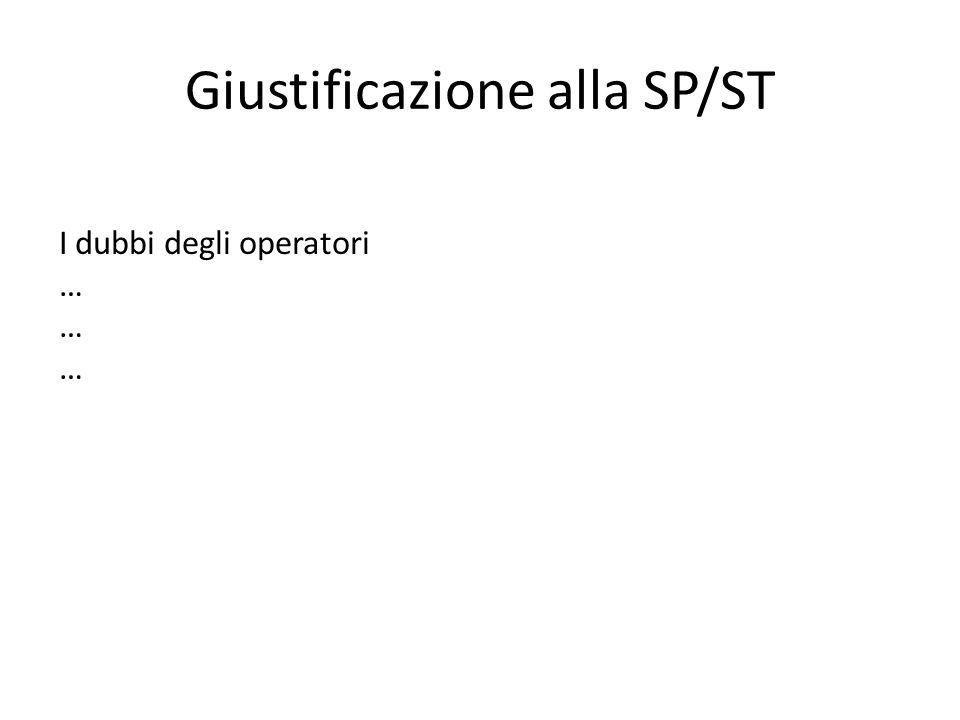 Giustificazione alla SP/ST