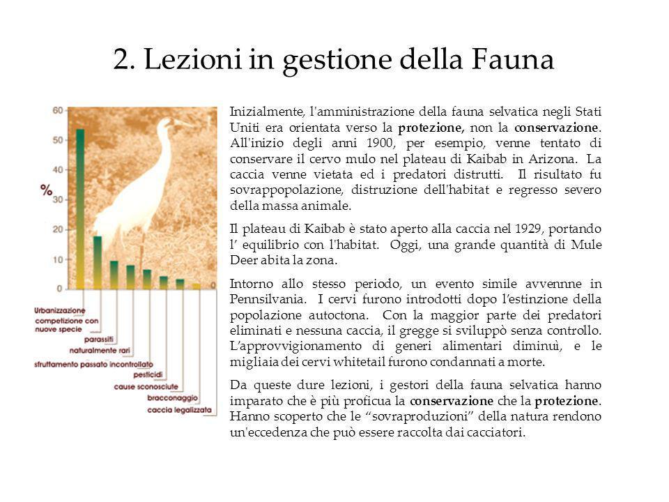 2. Lezioni in gestione della Fauna