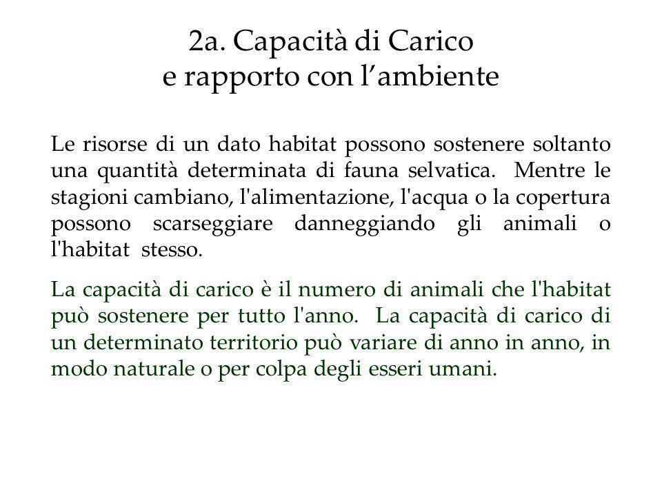 2a. Capacità di Carico e rapporto con l'ambiente