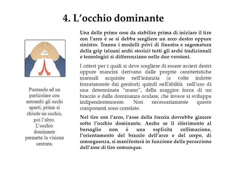 4. L'occhio dominante